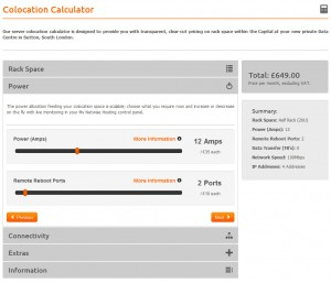 Colocation Calculator in action