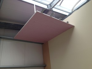 Top of lift shaft installed over first floor data hall entry point