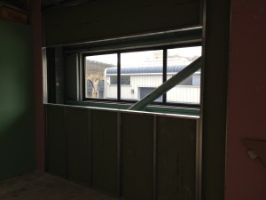Weather proof board is used in 'cold-corridor' sections as cold external air will be processed and cleaned here