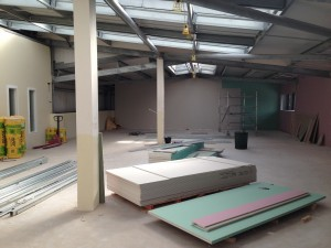 First floor shell works continue