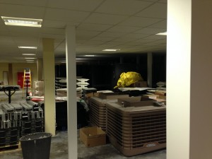 Ground floor lighting switched on and tested
