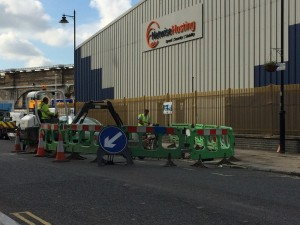 McNicholas engineers undertaking roadworks outside our London Central facility, for Virgin Media fibre