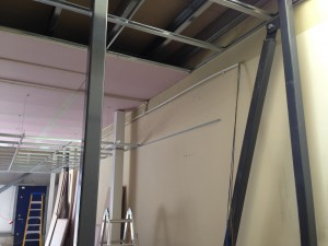 A look at the containment installations above ceiling void