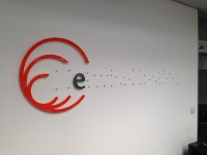 Mounting points installed, and logo characters being placed