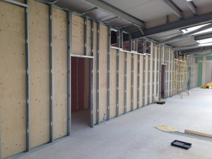 A look at the wooden cladding on the rear of the cold corridor enclosure