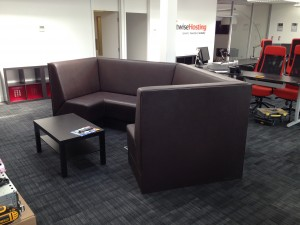 Upholstery completed on our custom NOC lounge seating