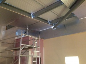 Zoning of overhead air plenum completed