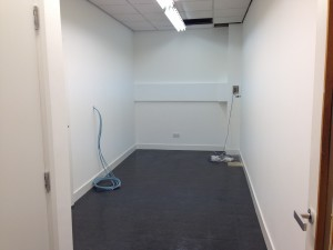First floor build room decorated, ready for fit-out