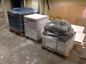 Delivery of further cooling hardware