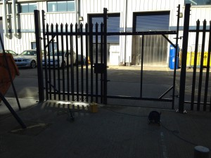 Gates being assembled