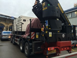 First two generator sets arriving at site
