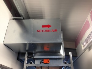 Air flow signage added to cooler stacks
