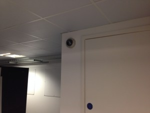 HD CCTV  cameras being installed in first floor data hall