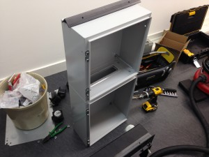 Custom power distribution enclosures being built on-site