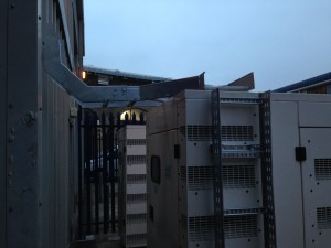 External cable ladder system being installed on generators