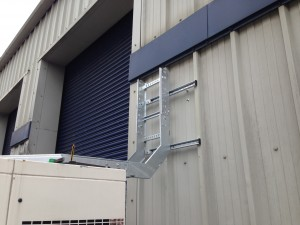External cable ladder system joining the generator sets to the facility cladding