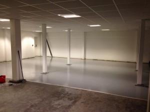 Ground floor rear warehouse flooring taking shape