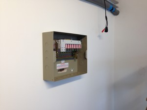 B-side power distribution installed in cold corridor