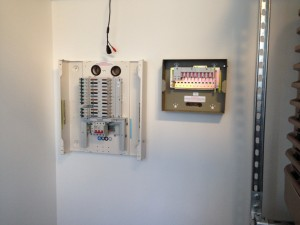 A-side power distribution installed in cold corridor