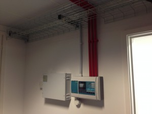 VESDA pipework in first data hall reaching completion
