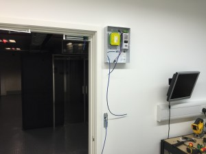 A look at the access control units being installed, in this instance to the first floor data hall entrance